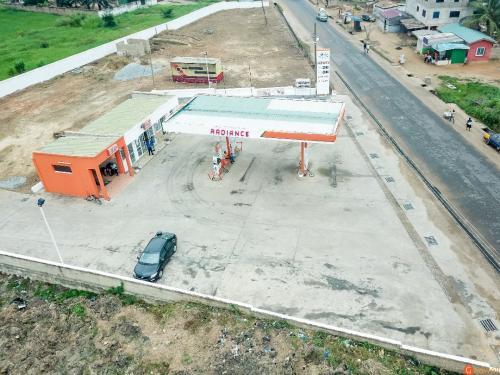 Aerial view of Opeikuma station